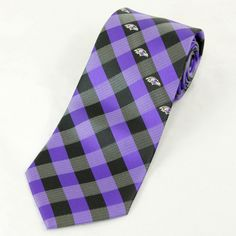Baltimore Ravens Check Neck Tie Eagles Wings Poly One Size NFL Football  Necktie  48427a408