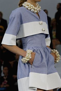 Chanel SS 2013 - vintage inspired, with pearls! love it.