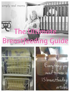 This breastfeeding guide contains links to 15 articles covering everything from increasing your milk supply to tips on relieving breastfeeding aches and pains.