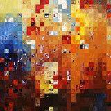 Tile Art #2, 2008. Modern Mosaic Tile Art Painting