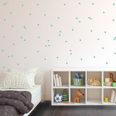 Tiny Repeatable Triangle Pattern Pieces  Wall Decal by danadecals, $2.00  Third decal option.......
