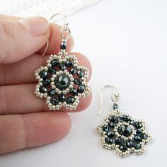 Magnetic Hematite Flower Blossom Earrings   Flickr - Photo Sharing!
