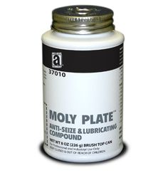 Moly Plate 37010 Anti-Seize Compound With Molydbenum Disulfide In A Non Melting Carrier, 8 Oz., Black, Paste, 2015 Amazon Top Rated Anti-Seizes #BISS