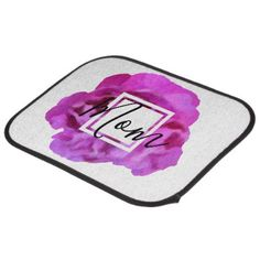 Mother Mom Floral Rose  Pink Purple Car Mat Set - purple floral style gifts flower flowers diy customize unique