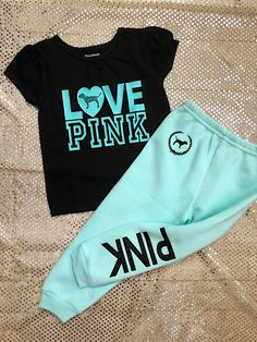 Toddler Baby Girls Love Pink Size 3T Fall Winter Sweatpants