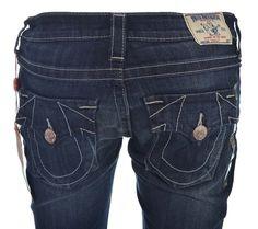 True Religion Womens Jeans Size 25 Straight with Flaps Heritage in Stonewood NWT #TrueReligion #StraightLeg