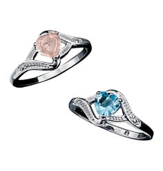 Avon: Sterling Silver Genuine Stone Heart Ring  Wow!!! What an amazing price! Check it out now at www.youravon.com/brittanyprater Click shop now Click whats new and jewelry