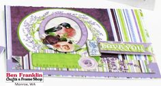 Ben Franklin Crafts and Frame Shop, Monroe, WA: BoBunny SECRET GARDEN Paper Collection and Card Ideas