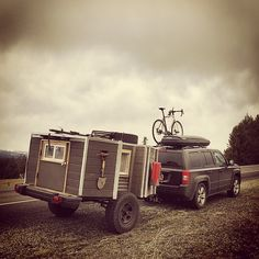"""Michael Douglas on Instagram: """"On the way to #Utah with all my stuff packed in my #offroad #camper. This thing is great to drive with and ve... Offroad Camper, Adventure Trailers, Jeep Patriot, Jeep Xj, Utah, Monster Trucks, Comfy, Cars, Vehicles"""