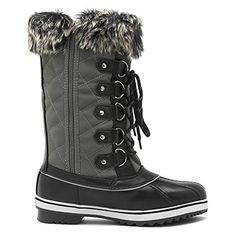 Price: (as of - Details) DREAM PAIRS Women's Mid-Calf Winter Snow Boots man-made material Synthetic sole Shaft measures approximately from arch Boot openin Mens Snow Boots, Warm Snow Boots, Winter Boots, Winter Shoes For Women, Cold Weather Boots, Country Dresses, Shoe Brands, Calves, Shoe Boots