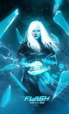 "Killer Frost art by Bosslogic ""Long overdue for a new Killer Frost @dpanabaker piece, wanted to give her a new look with some dreamy hair and a little hint of sub zero :D"" #TheFash #KillerFrost"