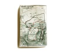 Jerusalem Map Passport Cover printed with the map of ancient Jerusalem, Israel -  from 1912 on Etsy, $9.00