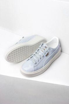 Puma Patent Creeper Sneakers in Blue