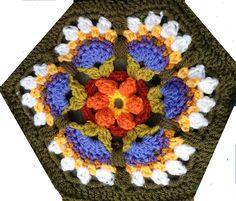 Ravelry: theotherjenny's Frida's New Jersey Flowers - Frida's Flowers Blanket CAL 2016 ... Variation ...