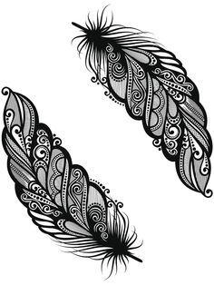 Ein Feder Tattoo