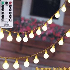 100 LEDs Globe String Lights Starry Fairy Lights with 8 Modes and Timer Remote Control Ball String Lights for Outdoor/Indoor Bedroom, Garden, Patio, Wedding, Christmas Tree Warm White White String Lights, Globe String Lights, Indoor String Lights, Light String, Patio Wedding, Wedding Reception, Garden Wedding Decorations, Decor Wedding, Christmas Decorations