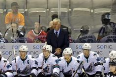 San Jose Barracuda head coach Roy Sommer looks on from the team bench (Oct. 9, 2015).