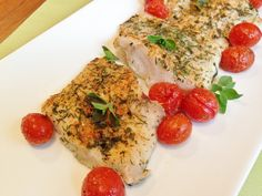 Gluten Free Roasted Cod Fillets with Cherry Tomatoes | Gluten Free Recipes