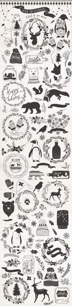 Pretty little Christmas illustrations: