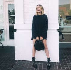 little miss giggles Knight Squad, Bailee Madison, Last Day Of Summer, Trophy Wife, Aesthetic Girl, Up Hairstyles, American Actress, All Black, Fall Outfits