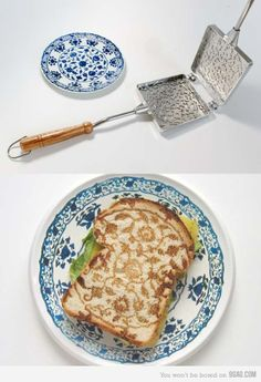 Amazing toasts inspired with Delft art Table Manners, Delft, Food Design, Kitchen Gadgets, Food Art, Good Food, Food And Drink, Dishes, Breakfast