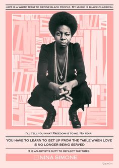 Nina Simone Mixed media collage quote music soul jazz | Etsy Nina Simone Quotes, Define Black, Soul Jazz, Civil Rights Activists, Mixed Media Collage, Wall Collage, Soul Singers, Sebastian Bach, American Singers