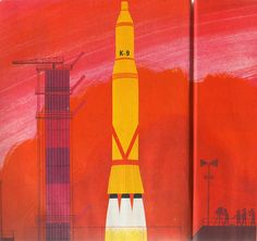 Blast-off  Un Fusee  Ma Raconte    Text and Illustration by Alain Gree (1971)  Les Album Rose