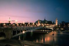 "The world through my eyes: The bridge ""Alexandre III"" at dusk"