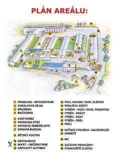 Výletní areál Pěnčín - mapa