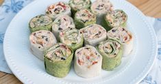 The classic party appetizer with a Southwest twist. These pretty tortilla pinwheels are made ahead and are waiting for you in the refrigerator to slice and serve at party time. A great addition to your appetizer menu at any time of year.