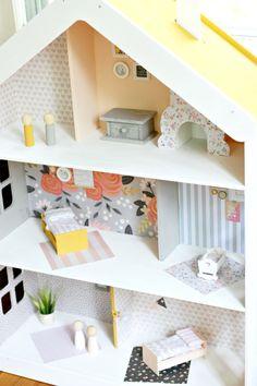 DIY Modern Dollhouse - The Pretty Life Girls  Give your playroom a stylish…