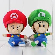 New Kawaii Super Mario Bros Mario Luigi Stuffed Plush Toys Soft Kids Toys Brithday Gift Super Mario Bros, Mario Und Luigi, Mario Bros., Plush Dolls, Doll Toys, Kawaii, Toy 2, Birthday Gifts For Kids, Kids Toys