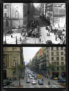 Via Laietana  Foto antigua: 1932 / Foto actual: 2007