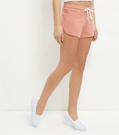 Mid Pink Runner Shorts  | New Look