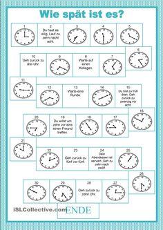 Brettspiele - Uhrzeiten