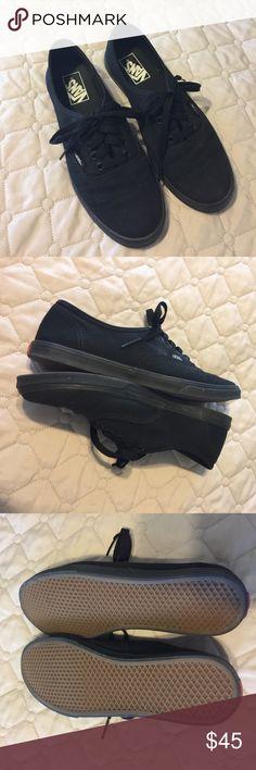 VANS BLACK VANS•SZ 8•DAUGHTER WORE 1x Vans Shoes