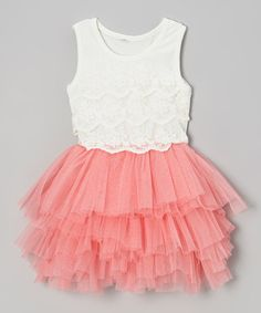 Take a look at this Bubblegum Pink Lace Tutu Dress - Toddler & Girls by POP Couture on #zulily today!