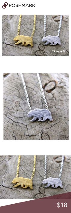 California Bear Necklace Hand made....Simple and dainty California bear necklace. Silver plated, gold plated, rose gold plated. Nickel and lead compliant. Brand new. Available in gold, silver, and rose gold. Jewelry Necklaces