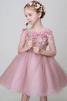 Floral Attire – 15 Stunning and Finest Designs for Ladies Pink Flower Girl Dresses, Cute Floral Dresses, Little Girl Dresses, Two Piece Floral Dress, Chiffon Floral, Dress Anak, Baby Girl Dress Patterns, Ceremony Dresses, Girls Formal Dresses