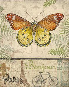 Vintage Wings-paris-l Painting  - Vintage Wings-paris-l Fine Art Print
