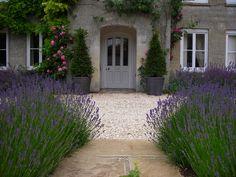 Garden Landscaping Wall Farmhouse garden restoration in Great Tew, Oxfordshire Front Garden Landscape, Gravel Garden, Garden Shrubs, Garden Paths, Garden Landscaping, Landscape Design, Garden Design, Landscaping Ideas, Gravel Front Garden Ideas