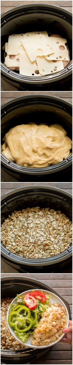 Slow Cooker Alpine Chicken. This easy one pot meal is a must try!