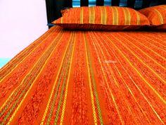 "Indian bedding/ King bedding/ Indian bedspread/ Bedding/ Bed sheet/ Bedspread/ Handloom handwoven bedding/ Cotton bedspread/ orange bedding 90""x 100"". $52.45 Indian Bedding, King Beds, Bed Covers, Bed Spreads, Bedside, Outdoor Blanket, Interior, Space, Home Decor"