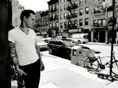 Brian Fallon, The Gaslight Anthem.  Great shot of a great man.  Photograph by Erik Weiss