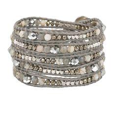 Grey Mix Wrap Bracelet