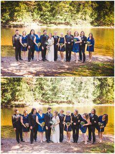 Muskoka Wedding on the lake in Port Sydney Ontario - Wedding party in dark blue. Super Mom, Blue Wedding, Ontario, Wedding Details, Real Weddings, Sydney, Dark Blue, Dolores Park, Couples