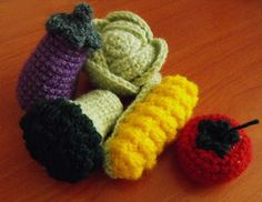 FREE Vegetables Crochet Pattern / Tutorial