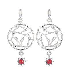 CARMEN EARRINGS  Designer: Kirsti Doukas  material: silver  stone: garnet