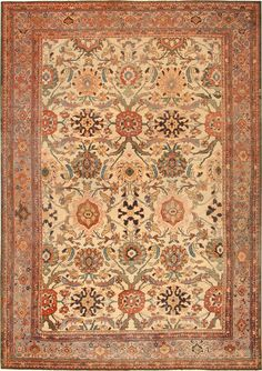 Antique Sultanabad Persian rug #42513  http://www.nazmiyalantiquerugs.com/antique-Sultanabad-rugs.html