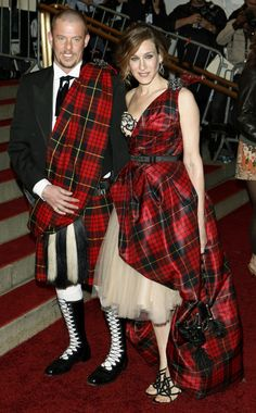 Alexander mCqueen photos of him | Alexander McQueen's tartan dresses exemplified the late designer's ...